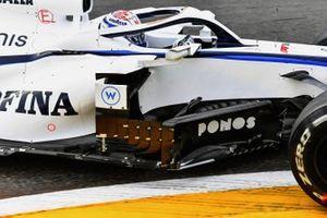 Barge boards on the car of Nicholas Latifi, Williams FW43
