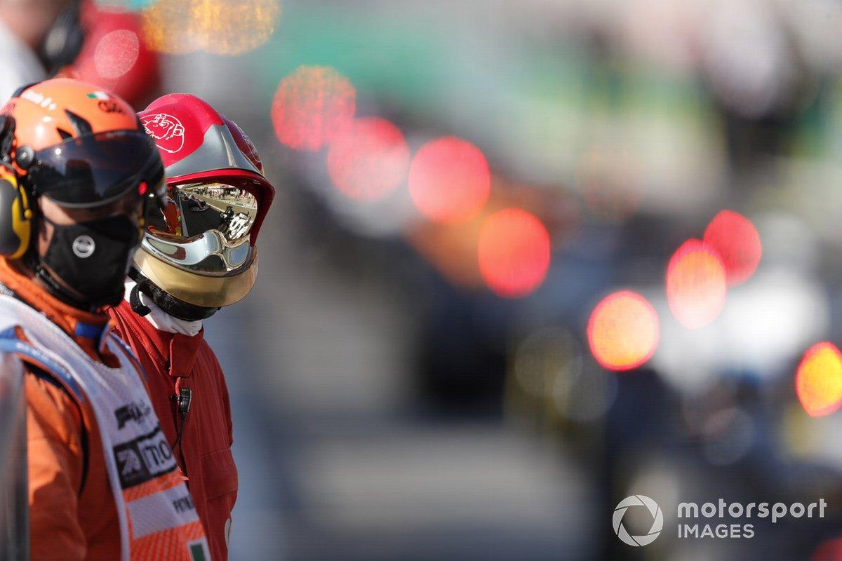 Marshal in pit lane