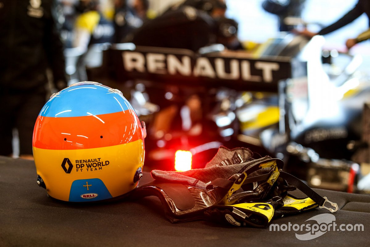 Helmet of Fernando Alonso, Renault F1 Team