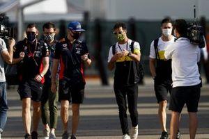 Max Verstappen, Red Bull Racing and Daniel Ricciardo, Renault F1