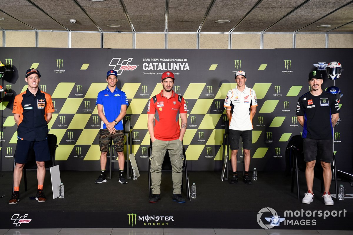 Pol Espargaro, Red Bull KTM Factory Racing, Joan Mir, Team Suzuki MotoGP, Andrea Dovizioso, Ducati Team, Alex Marquez, Repsol Honda Team, Maverick Vinales, Yamaha Factory Racing