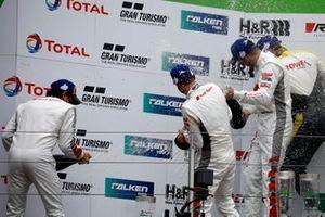 Podio: #3 Audi Sport Team Car Collection Audi R8 LMS GT3: Mirko Bortolotti, Robin Frijns, Markus Winkelhock