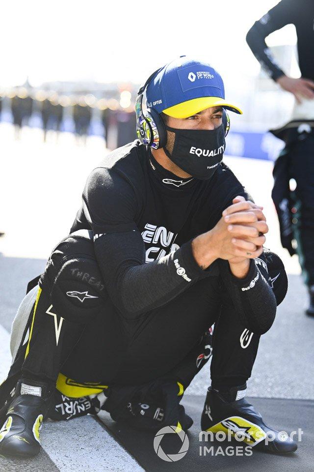 Daniel Ricciardo, Renault F1,sulla griglia di partenza