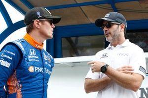 Scott Dixon, Chip Ganassi Racing Honda, Jimmie Johnson, Chip Ganassi Racing Honda