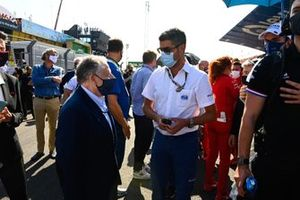 Jean Todt, President, FIA and Michael Masi, Race Director on the grid