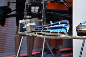 McLaren MCL35M dettaglio ala anteriore