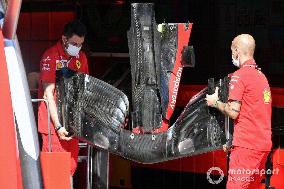 Ferrari SF21: Frontflügel
