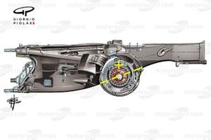 Ferrari SF21 gearbox detail