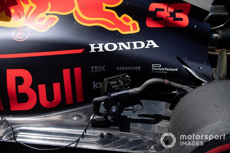 Equipment on the car of Max Verstappen, Red Bull Racing RB15