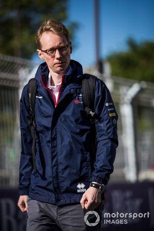 Sylvain Filippi, Managing Director & CTO, Virgin Racing, on a track walk