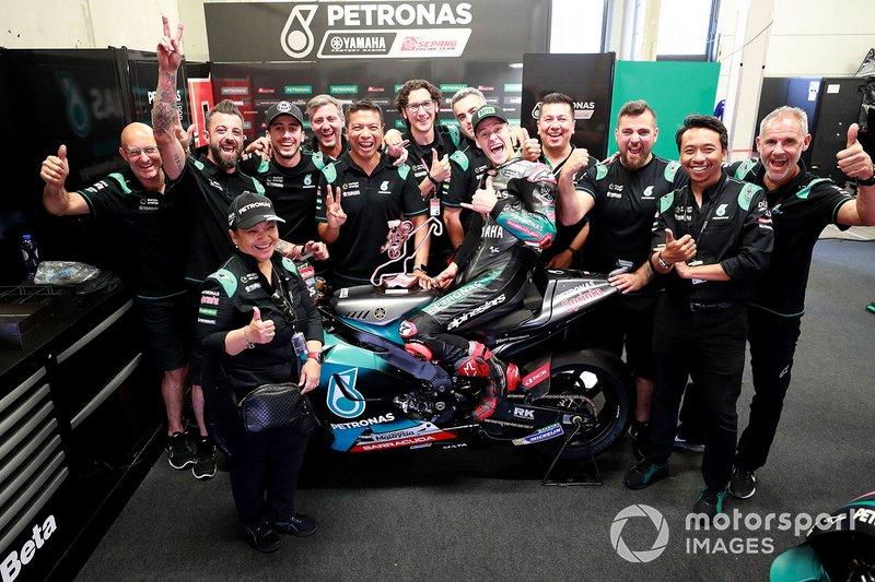 Fabio Quartararo, Petronas Yamaha SRT celebra