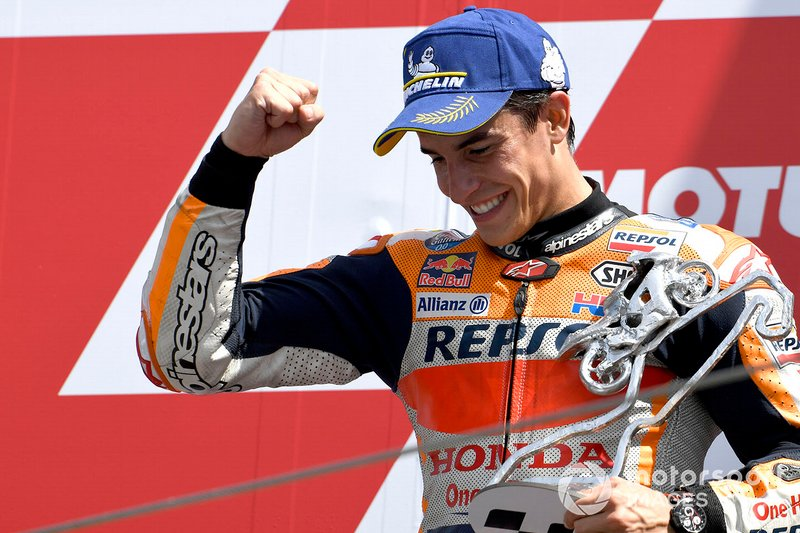 Podio: secondo posto Marc Marquez, Repsol Honda Team