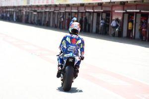 Alex Rins, Team Suzuki MotoGP, après sa chute