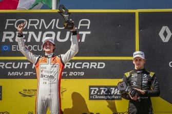 Podium: race 1 winner Lorenzo Colombo, MP motorsport, third place Victor Martins, MP motorsport