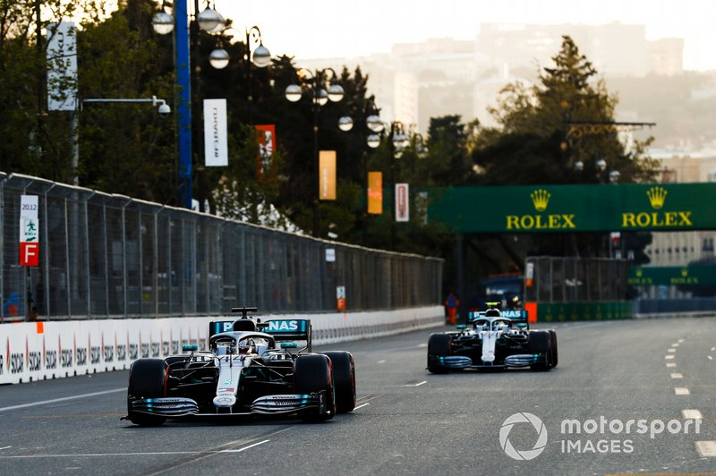 Valtteri Bottas and Lewis Hamilton helped Mercedes break a new record in Baku, as it became the first team in history to finish 1-2 in the first four races of a Formula 1 season.