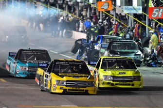 Grant Enfinger, ThorSport Racing, Ford F-150 Champion Power Equipment and Matt Crafton, ThorSport Racing, Ford F-150 Ideal Door/Menards