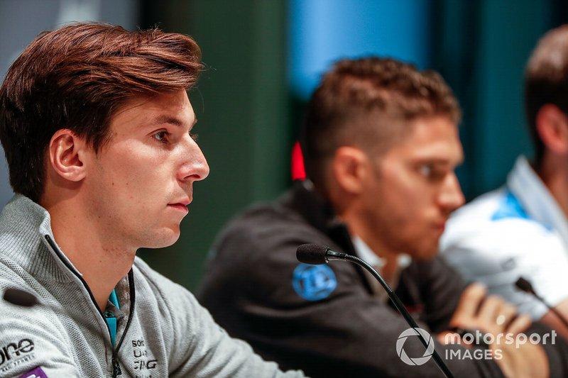 Alex Lynn, Panasonic Jaguar Racing, lors de la conférence de presse avec Edoardo Mortara, Venturi Formula E