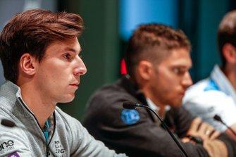 Alex Lynn, Panasonic Jaguar Racing, in the press conference with Edoardo Mortara, Venturi Formula E