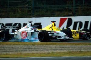 Jacques Villeneuve, BAR Honda 003, Jarno Trulli, Jordan Honda EJ11