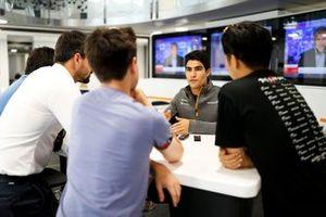 Sergio Sette Camara, McLaren speaks to the media