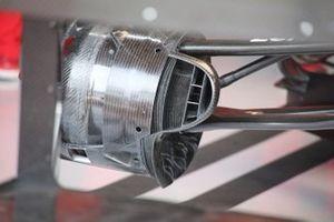 Detalle de la suspensión del Ferrari SF90