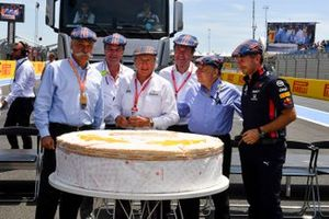 Jackie Stewart Birthday photograph with team principles
