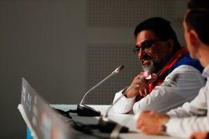 Dilbagh Gill, CEO y director del equipo, Mahindra Racing, en la conferencia de prensa