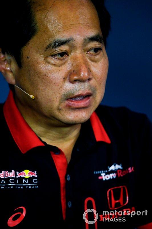 Toyoharu Tanabe, Director Técnico de F1, Honda, en la Rueda de Prensa de los directores del equipo