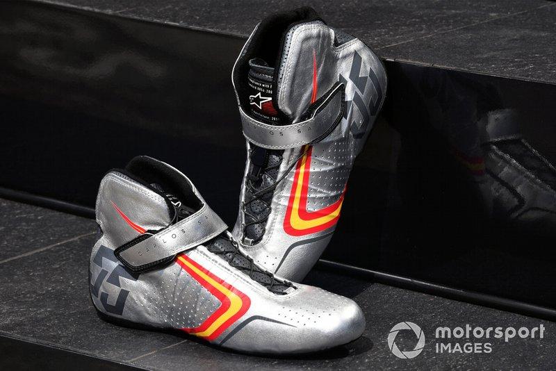 Botas únicas Alpine Stars de Carlos Sainz Jr., McLaren