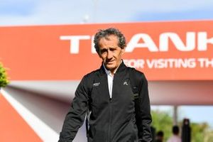 Alain Prost, Renault F1 Team arrive in the paddock