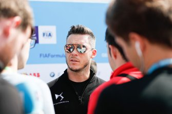 Andre Lotterer, DS TECHEETAH, talks to the press