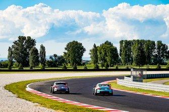 Niels Langeveld, Comtoyou Team Audi Sport Audi RS 3 LMS, Jean-Karl Vernay, Leopard Racing Team Audi Sport Audi RS 3 LMS