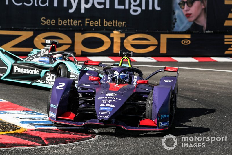 Sam Bird, Envision Virgin Racing, Audi e-tron FE05 Mitch Evans, Panasonic Jaguar Racing, Jaguar I-Type 3