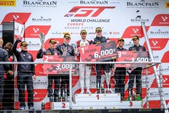 Podium winners #89 Akka ASP Team Mercedes-AMG GT3: Nico Bastian, Thomas Neubauer