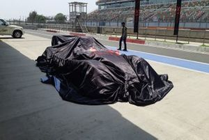 X1 Racing League car under wraps