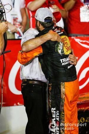 Martin Truex Jr., Joe Gibbs Racing, Toyota Camry Bass Pro Shops / TRACKER ATVs & Boats / USO victory lane with Bass Pro Shops owner Johnny Morris