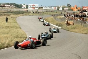 Phil Hill, ATS 100, Joakim Bonnier, Cooper T60 Climax,, Trevor Taylor, Lotus 25 Climax,, Chris Amon, Lola Mk4A Climax, Innes Ireland, BRP 1-BRM