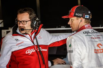 Julien Simon-Chautemps, ingénieur de course, avec Kimi Räikkönen, Alfa Romeo