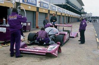 Teo Fabi, Derek Warwick, Martin Brundle, Jaguar XJR-14