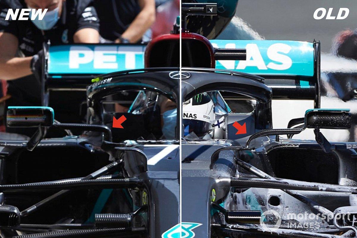 Comparaison des évolutions de la Mercedes W11