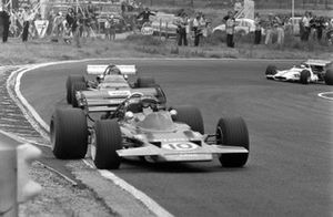 Jochen Rindt, Lotus 72C Ford leads Jacky Ickx, Ferrari 312B and Jackie Oliver, BRM P153