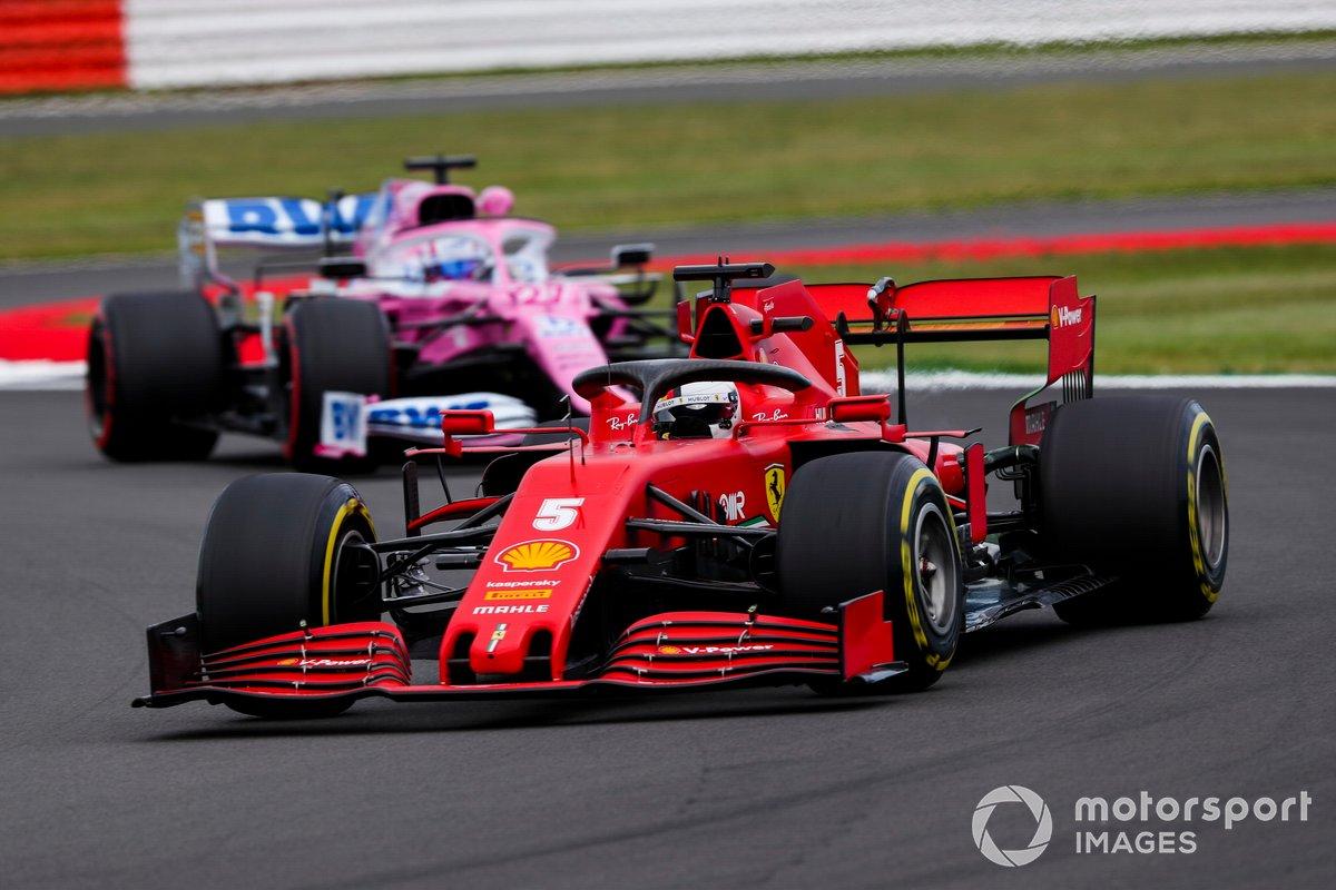 Sebastian Vettel, Ferrari SF1000, Nico Hulkenberg, Racing Point RP20