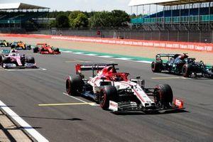 Kimi Raikkonen, Alfa Romeo Racing C39, Valtteri Bottas, Mercedes F1 W11, Lance Stroll, Racing Point RP20, Charles Leclerc, Ferrari SF1000, and Carlos Sainz Jr., McLaren MCL35