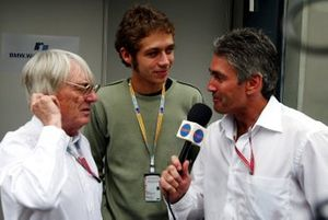 Bernie Ecclestone, Valentino Rossi, Mick Doohan