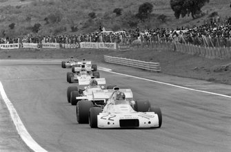 Wilson Fittipaldi, Brabham BT33 Ford, Graham Hill, Brabham BT37 Ford y Mike Hailwood, Surtees TS9B Ford
