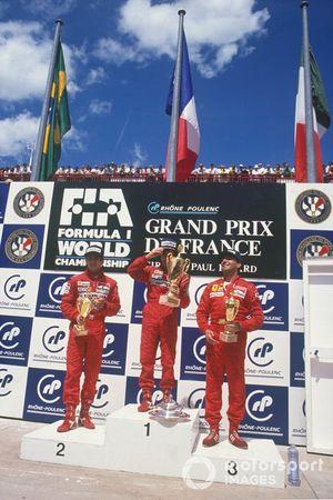 Alain Prost, McLaren, Ayrton Senna, McLaren, Michele Alboreto, Ferrari