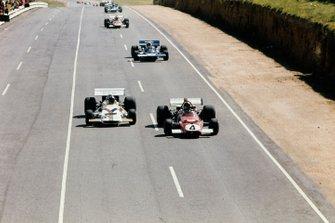 Jacky Ickx, Ferrari 312B, Pedro Rodriguez, British Racing Motors P160, Jackie Stewart, Tyrrell 001 Ford