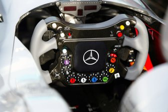 The steering wheel of the McLaren MP4/19