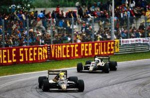 Ayrton Senna, Lotus 97T Renault, Elio de Angelis, Lotus 97T Renault