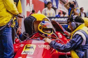Michele Alboreto, Ferrari, mit Antonio Tomaini